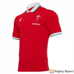 maglia home replica in cotone galles rugby 2020/21